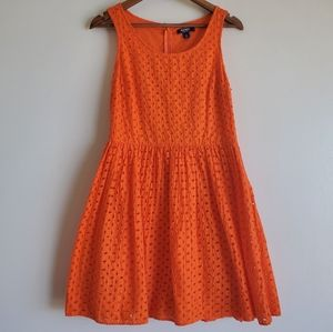 Old Navy eyelet Dress Orange